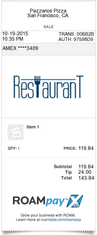 restaurant receipt - Create A Receipt