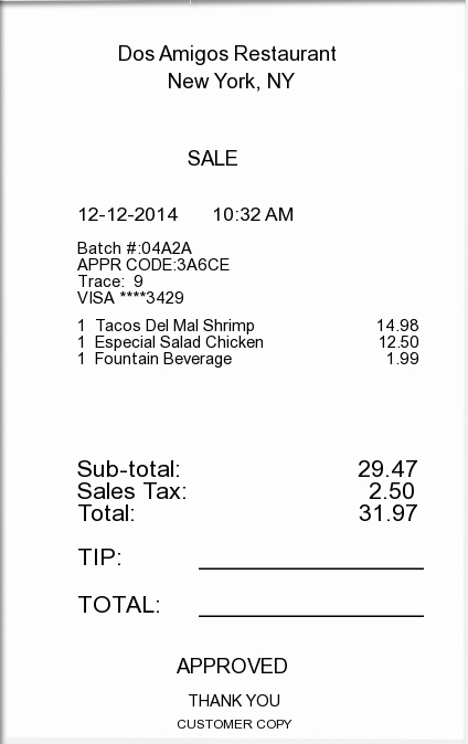 Itemized Receipt Template Now Available Expressexpense