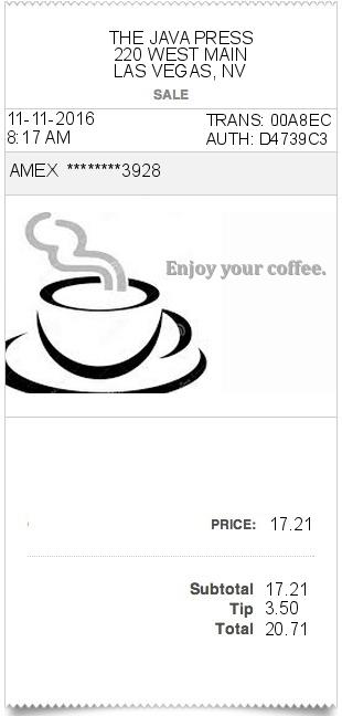 Coffee Receipt Expressexpense Custom Receipt Maker
