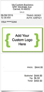 Custom Logo Receipt