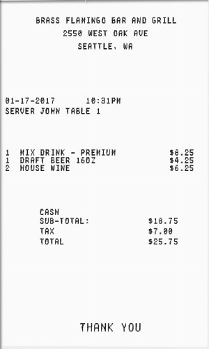 ExpressExpense Custom Receipt Maker - Restaurant receipt template