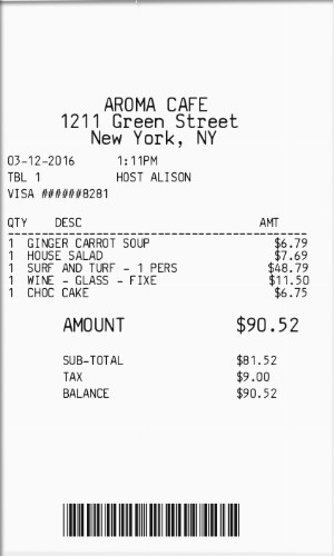 itemized receipt - Fake Receipt Maker