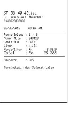 Petrol Fuel Receipt