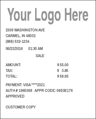 Custom Logo Receipt  Expense Receipt Template